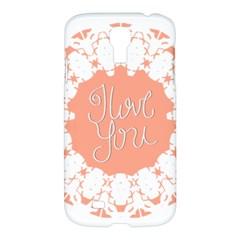 Mandala I Love You Samsung Galaxy S4 I9500/i9505 Hardshell Case