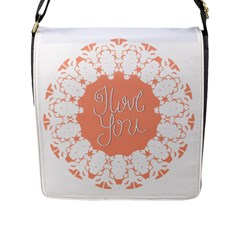 Mandala I Love You Flap Messenger Bag (l)