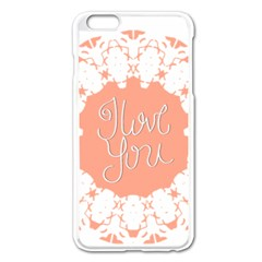 Mandala I Love You Apple Iphone 6 Plus/6s Plus Enamel White Case
