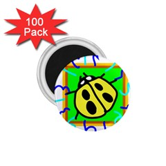 Insect Ladybug 1 75  Magnets (100 Pack)  by Nexatart