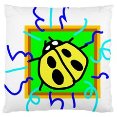 Insect Ladybug Large Flano Cushion Case (one Side)