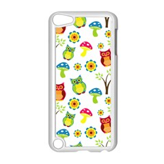 Cute Owl Wallpaper Pattern Apple Ipod Touch 5 Case (white)