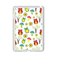 Cute Owl Wallpaper Pattern Ipad Mini 2 Enamel Coated Cases