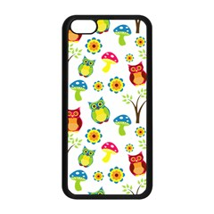 Cute Owl Wallpaper Pattern Apple Iphone 5c Seamless Case (black)
