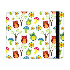 Cute Owl Wallpaper Pattern Samsung Galaxy Tab Pro 8 4  Flip Case