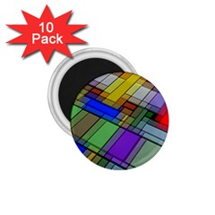 Abstract Background Pattern 1 75  Magnets (10 Pack)  by Nexatart