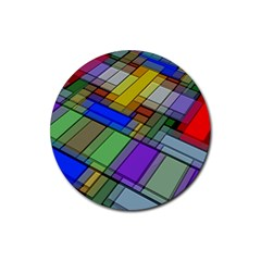 Abstract Background Pattern Rubber Round Coaster (4 Pack)