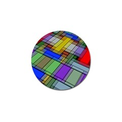 Abstract Background Pattern Golf Ball Marker