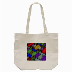Abstract Background Pattern Tote Bag (cream)