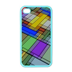 Abstract Background Pattern Apple Iphone 4 Case (color)
