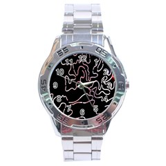 Abstract Glare Visual Art Stainless Steel Analogue Watch by Nexatart