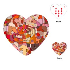 Abstract Abstraction Pattern Modern Playing Cards (heart)