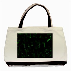 Abstract Art Background Green Basic Tote Bag by Nexatart