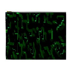 Abstract Art Background Green Cosmetic Bag (xl)