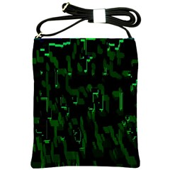 Abstract Art Background Green Shoulder Sling Bags by Nexatart