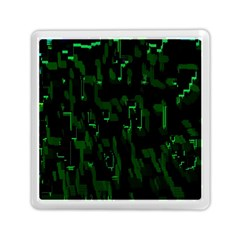 Abstract Art Background Green Memory Card Reader (square)  by Nexatart