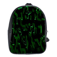 Abstract Art Background Green School Bags (xl)