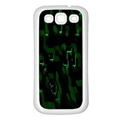 Abstract Art Background Green Samsung Galaxy S3 Back Case (white)