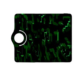 Abstract Art Background Green Kindle Fire Hdx 8 9  Flip 360 Case by Nexatart