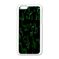 Abstract Art Background Green Apple Iphone 6/6s White Enamel Case