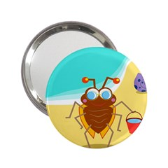 Animal Nature Cartoon Bug Insect 2 25  Handbag Mirrors