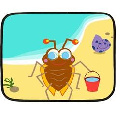 Animal Nature Cartoon Bug Insect Fleece Blanket (mini)