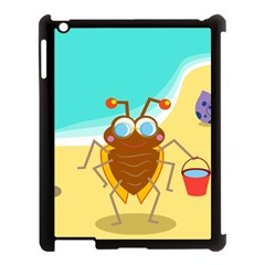 Animal Nature Cartoon Bug Insect Apple Ipad 3/4 Case (black)