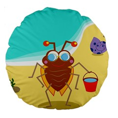 Animal Nature Cartoon Bug Insect Large 18  Premium Round Cushions by Nexatart