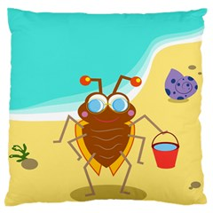 Animal Nature Cartoon Bug Insect Standard Flano Cushion Case (one Side) by Nexatart