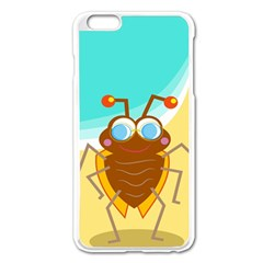 Animal Nature Cartoon Bug Insect Apple Iphone 6 Plus/6s Plus Enamel White Case