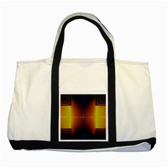 Abstract Painting Two Tone Tote Bag