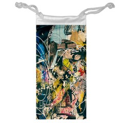 Art Graffiti Abstract Lines Jewelry Bag