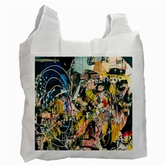 Art Graffiti Abstract Lines Recycle Bag (one Side)
