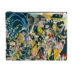 Art Graffiti Abstract Lines Cosmetic Bag (xl)