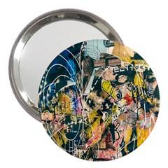 Art Graffiti Abstract Lines 3  Handbag Mirrors