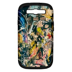 Art Graffiti Abstract Lines Samsung Galaxy S Iii Hardshell Case (pc+silicone)