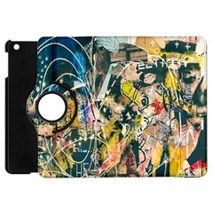 Art Graffiti Abstract Lines Apple Ipad Mini Flip 360 Case
