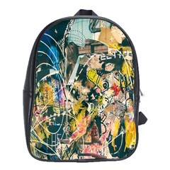 Art Graffiti Abstract Lines School Bags (xl)
