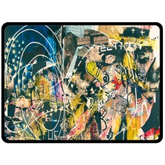 Art Graffiti Abstract Lines Double Sided Fleece Blanket (large)  by Nexatart
