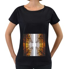 Architecture Facade Buildings Windows Women s Loose Fit T Shirt (black) by Nexatart