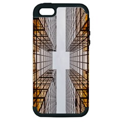 Architecture Facade Buildings Windows Apple Iphone 5 Hardshell Case (pc+silicone)