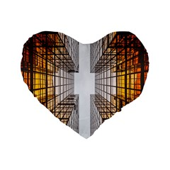Architecture Facade Buildings Windows Standard 16  Premium Heart Shape Cushions