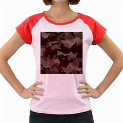 Background For Scrapbooking Or Other Camouflage Patterns Beige And Brown Women s Cap Sleeve T Shirt