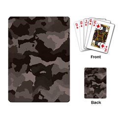 Background For Scrapbooking Or Other Camouflage Patterns Beige And Brown Playing Card by Nexatart