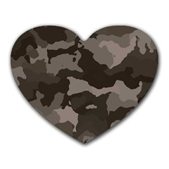 Background For Scrapbooking Or Other Camouflage Patterns Beige And Brown Heart Mousepads by Nexatart