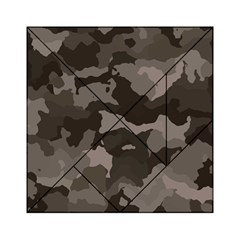 Background For Scrapbooking Or Other Camouflage Patterns Beige And Brown Acrylic Tangram Puzzle (6  X 6 ) by Nexatart