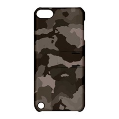 Background For Scrapbooking Or Other Camouflage Patterns Beige And Brown Apple Ipod Touch 5 Hardshell Case With Stand by Nexatart
