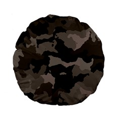 Background For Scrapbooking Or Other Camouflage Patterns Beige And Brown Standard 15  Premium Flano Round Cushions