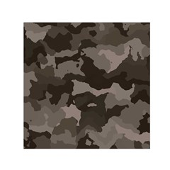Background For Scrapbooking Or Other Camouflage Patterns Beige And Brown Small Satin Scarf (square) by Nexatart