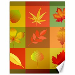 Autumn Leaves Colorful Fall Foliage Canvas 18  X 24   by Nexatart
